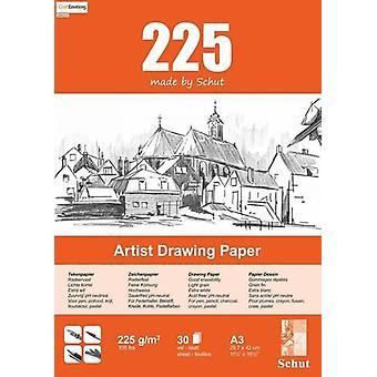Schut Artist Drawing Paper 225 gram A3 bloc a 30 sheets