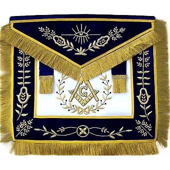Masonic master mason apron bullion hand embroidered vine work