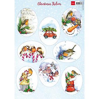 ماريان تصميم Decoupage عيد الميلاد روبنز VK9578 A4