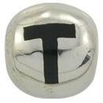 TOC beadz 925 Silber Initial T 9mm Slide-on Bead