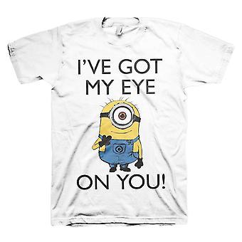 Men's Minions 'I Got My Eye On You' White T-Shirt