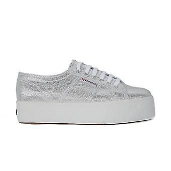 Superga Lame Wedge Grey 2790LAMEW031 universeel het hele jaar vrouwen schoenen