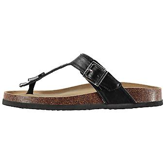 SoulCal Womens Cork Toe Pst Flat Sandals Summer Shoes