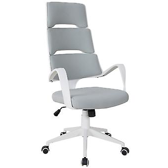Vinsetto High Back Office Chair Work Executive 360 Swivel w/ 5 Castor Wheels Foam Padding Ergonomic Wide Arms Grey