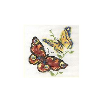 Alisa Cross Stitch Kit - Beautiful Butterflies