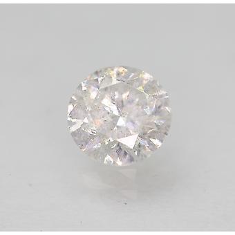 Certified 0.47 Carat E SI2 Round Brilliant Enhanced Natural Loose Diamond 4.95mm