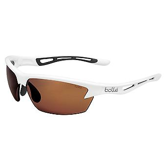 Bolle Bolt B kirkas aurinkolasit valkoinen runko V3 Golf Oleo AF Trivex linssi