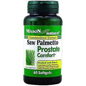 Mason natural saw palmetto prostate comfort, softgels, 60 ea