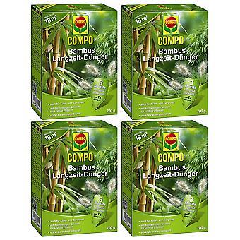 Disperso: 4 x COMPO Bamboo a largo plazo fertilizante, 700 g
