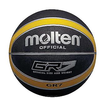 Molten GR7 Indoor Outdoor Rubber Basketball Ball Black/Yellow