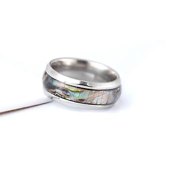 Gold-plated ring with mother-of-pearl for men