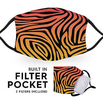 Funk Zebra Print - Reusable Childrens Cloth Face Masks - 2 Filters Included