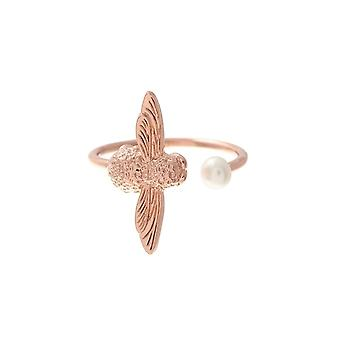 Olivia Burton Watches Obj16amr09 Pearl Bee Ring Rose Gold