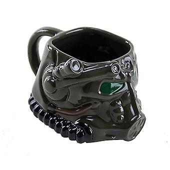 Fallout Mug Armour Helmet 3D new Official  Dark Green Boxed Novelty