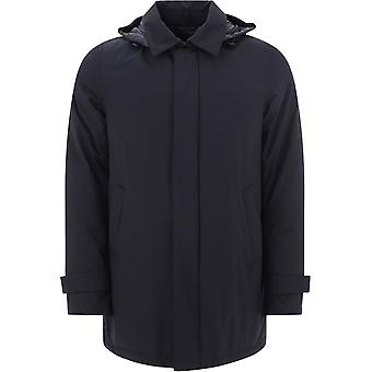 Herno Pi107ul111219300 Men's Black Polyester Outerwear Jacket
