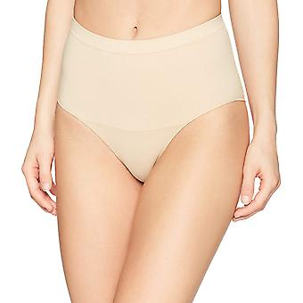 Brand - Arabella Women's Matte and Sheer Seamless Shapewear Brief, San...