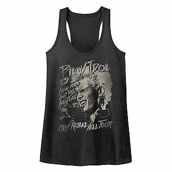 Billy Idol Blondie Boy Womens Gray T-Shirt