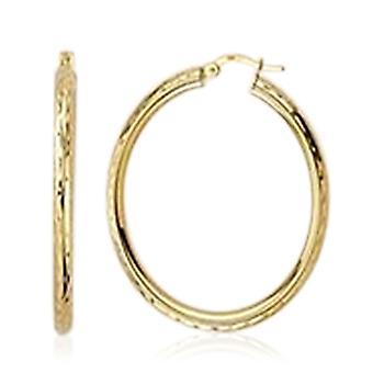 Boucles d'oreilles TJC 9ct Yellow Gold Hoop pour femmes