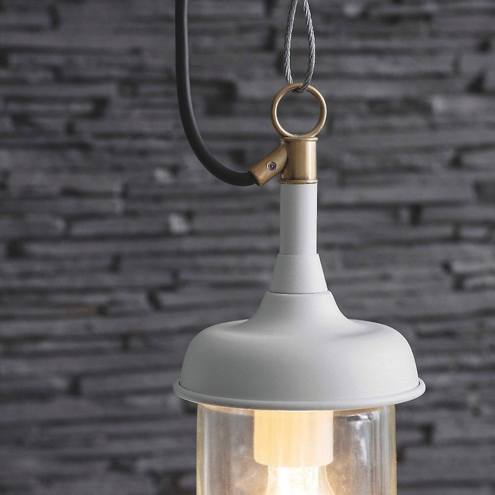 Garden Trading Harbour Outdoor Pendant Light In Lily White