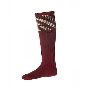 House of Cheviot Country Socks Granton ~ Brick Red