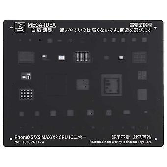 QianLi MEGA-IDEA CPU IC BGA Stencil for iPhone XR/XS/XS Max