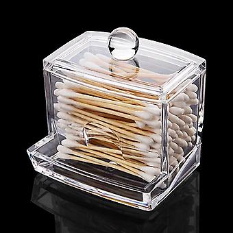 Clear Acrylic Cotton Swabs Sticks Holder - Cotton Pads Container And Makeup