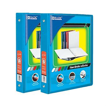 Combo40, BAZIC 1 Inch 3-Ring View Binder with 2-Pockets (Case pack of 24: Cyan)