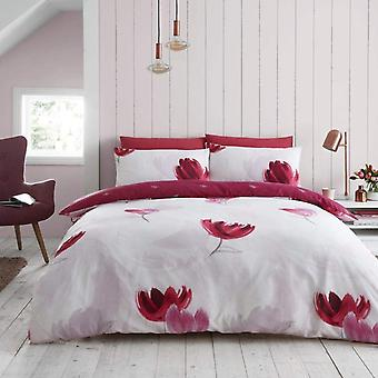Darcy Floral Duvet Cover Set Purple