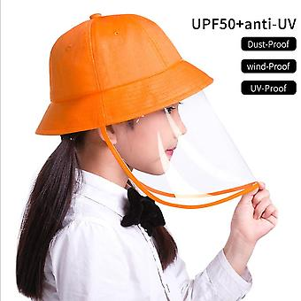 Windproof, Dustproof Protective Full Face Shield Bucket Sun Cap Hat For Children