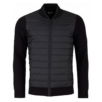 Barbour International Baffle Zip Through Knit