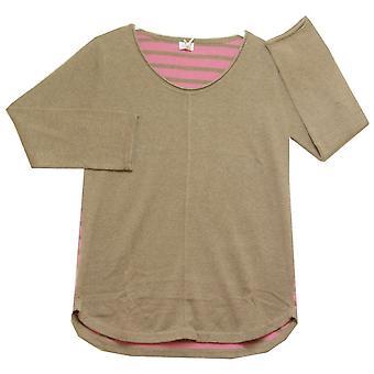 SASKIA Sweater CTN2354 Cappuccino With Pink