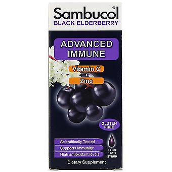 Sambucol, Sirop de sureau noir, Immunitaire avancée, Vitamine C + Zinc, Ber naturel