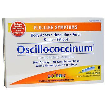 Boiron, Oscillococcinum, Flu-Like Symptoms, 6 Doses, 0.04 oz Each