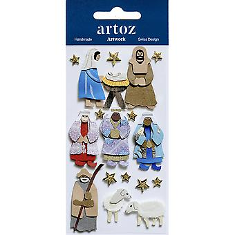 Artoz tarafından Xmas Nativity Rakamlar Craft Bezeme