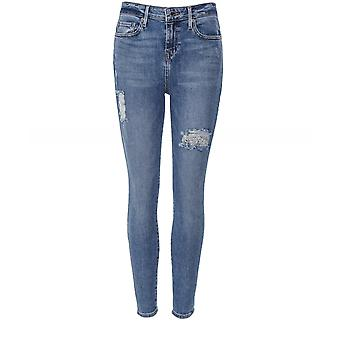 True Religion Halle Distressed High Rise Super Skinny Jeans