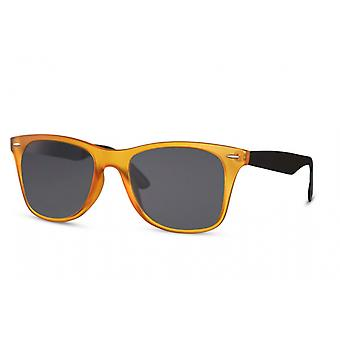 Sunglasses Unisex panto full-edged kat. 3 orange/black