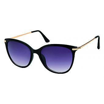 Sunglasses Women's panto black/gold (20-050)