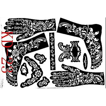 Hands/feet Tattoo Stencils for Airbrushing - Professional Mehndi Body Painting Kit Supplies