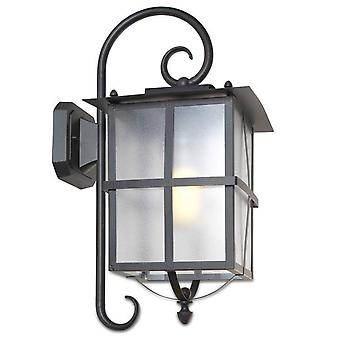 1 Light Outdoor Wall Lantern Rusty brown IP65, E27