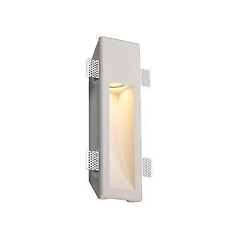 Luminosa Belysning - Medium forsænket væglampe, 1 x GU10, hvid maling kan males gips, Skåret ud: L: 353mmxW: 103mm
