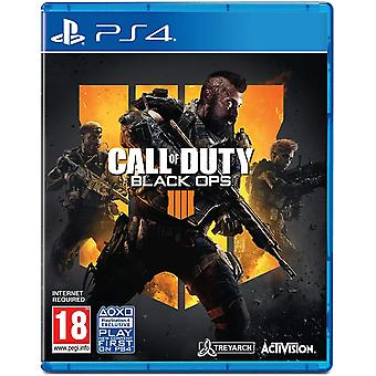 Call of Duty Black Ops 4 PS4 Spil (fransk boks)