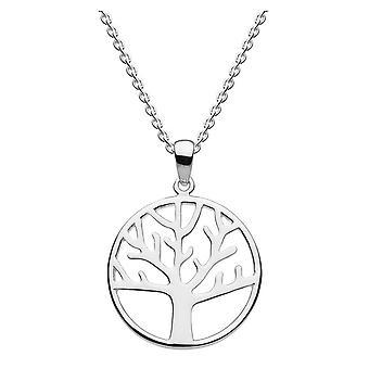 ندى الاسترليني الفضة شجرة بسيطة من قلادة الحياة 98018HP020