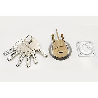 High Quality Copper Door Lock Cylinder With 6 Key Rotary Switch