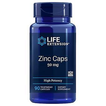 Life Extension Zinc High Potency, 50 Mg, 90 Vcaps