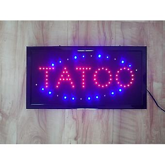 Tatoo Sign Neon Lights Led Animated Customers Attractive Sign With Hang Chain