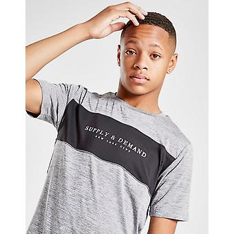Nieuwe Supply & Demand Boys' Zorb T-Shirt Grijs