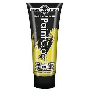 PaintGlow Neon Uv Face And Body Paint 13ml - (pro) Yellow