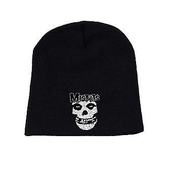 Misfits Beanie Hat Cap Classic Fiend band Logo Official New Black