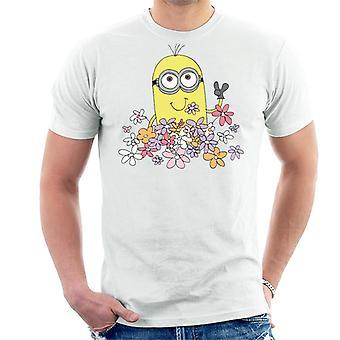 Halveksittava Minä Minion Nauttii kukkia Men's T-paita