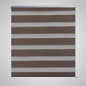 Double roller blind 140 x 175 cm coffee